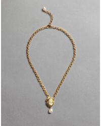 Dolce & Gabbana - Metallic Cameo Necklace - Lyst