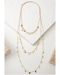 Forever 21 - Metallic Triangle Layered Necklace - Lyst