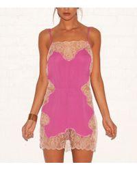 Fleur du Mal | Pink Lace Thong | Lyst