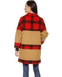 Rachel Comey Red Karloff Check Coat Buffalo