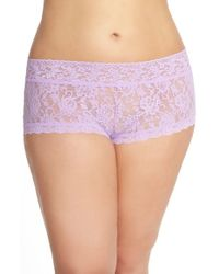 Hanky Panky - Purple Stretch Lace Boyshorts - Lyst