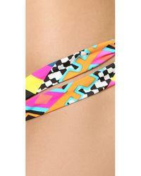 Mara Hoffman Multicolor Reversible Two Strap Bikini Bottoms - Horizon White