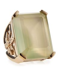 Stephen Dweck | Flower Cutout Swirly Green Agate Ring Size 7 7 | Lyst