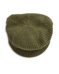 Echo - Green Knit Newsboy Hat - Lyst