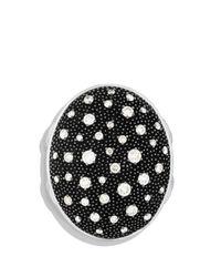 David Yurman Metallic Midnight Mélange Oval Ring With Diamonds