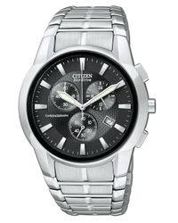 Citizen | Gray Men'S Chronograph Eco-Drive Stainless Steel Bracelet Watch 40Mm At2050-56E for Men | Lyst