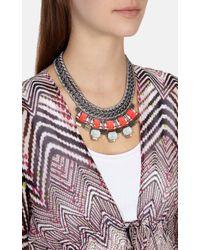 Karen Millen | Pink Statement Necklace | Lyst