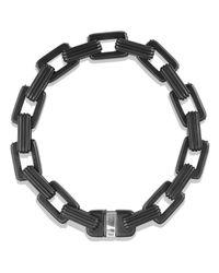 David Yurman Black Royal Cord Link Bracelet With Sapphires for men