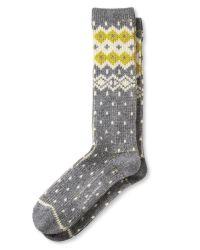 Banana Republic   Gray Bold Fair Isle Camp Sock   Lyst