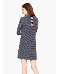 Mango | Blue Striped Cotton Dress | Lyst