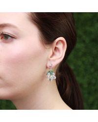 Arunashi White Water Opal Grape Earrings