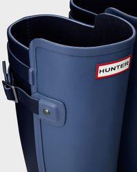 HUNTER - Blue Women's Original Refined Back Strap Wellington Boots - Lyst