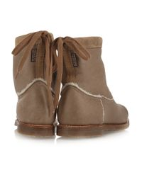 Penelope Chilvers Natural Zuri Shearling-lined Leather Boots
