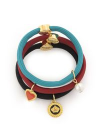 Juicy Couture | Multicolor Set Of 3 Charmy Elastics | Lyst