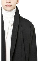 Christophe Lemaire Black Wool Tweed Coat for men