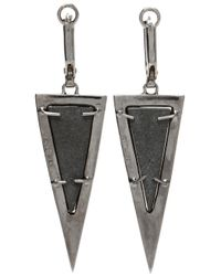 Kimberly Mcdonald Green Uvaronite Garnet Diamond Triangle Earrings