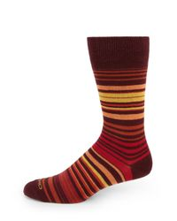 Etro | Red Stripe Dress Socks for Men | Lyst