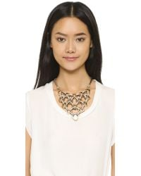 Lulu Frost Metallic Narcissus Necklace - Clear/gold