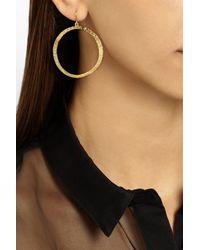 Jennifer Meyer | Metallic 18-Karat Gold Hoop Earrings | Lyst