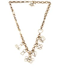 Lanvin | Metallic Luck Charm Necklace | Lyst