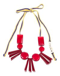 Marni Pink Resin Bead Necklace