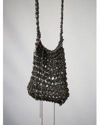 Free People - Metallic Crochet Chain Medicine Bag - Lyst