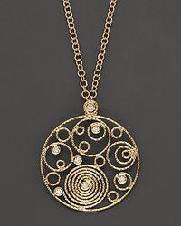 Roberto Coin - Metallic 18 Kt Yellow Gold and Diamond Mauresque Pendant - Lyst