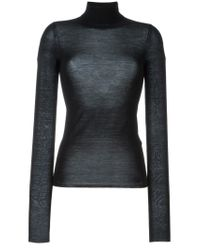 JOSEPH - Black Funnel Neck Sweater - Lyst