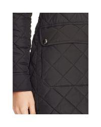 Ralph Lauren | Black Diamond-quilted Full-zip Coat | Lyst