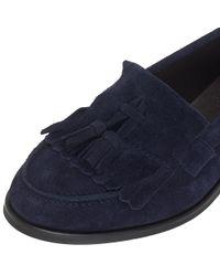 John Lewis Blue Gia Flat Tassel Loafers