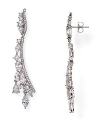 Nadri | Metallic Cluster Linear Drop Earrings | Lyst