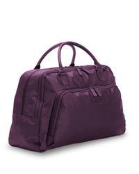 Lipault Purple Zip Top Weekend Tote for men