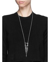 Ela Stone | Metallic Saskia Spike Charm Necklace | Lyst