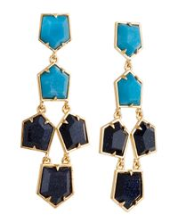 Lele Sadoughi - Blue Prism Chandelier Earrings, Starry Night - Lyst