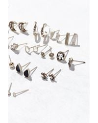 Urban Outfitters - Metallic Mega Post Earring Set - Lyst