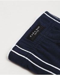 Zara | Blue Plain Boxers With Interior Band for Men | Lyst
