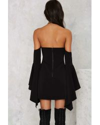 Nasty Gal - Black Back To You Off-the-shoulder Mini Dress - Lyst