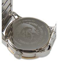 DIESEL - Metallic Watch for Men - Lyst