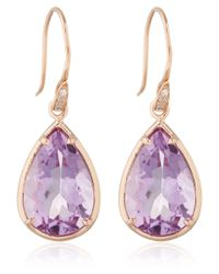 Dinny Hall - Pink Rose Gold Amethyst Anniversary Earrings - Lyst