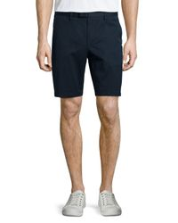 Michael Kors - Blue Stretch-twill Shorts for Men - Lyst