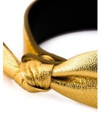 Saint Laurent - Metallic 'Tresor' Bracelet - Lyst