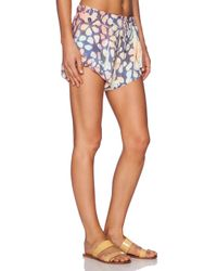 Blue Life Multicolor Overlapped Short