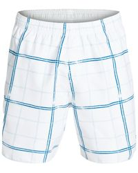 Quiksilver | White Waterman Crosshatch Swim Shorts for Men | Lyst