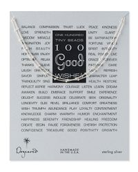 Dogeared Metallic 100 Good Wishes Silver Necklace