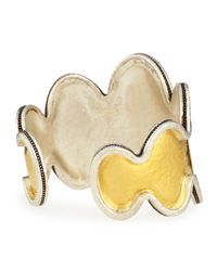 Gurhan - Metallic Tapered Two-Tone Flame Bracelet - Lyst