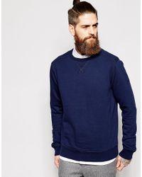 Timberland Blue Sweatshirt With Logo Sleeve for men