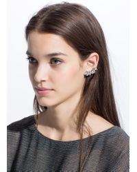 Mango | Metallic Crystals Ear Cuff | Lyst