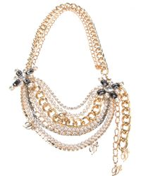 DSquared² - White Multi Chain Necklace - Lyst