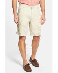 Tommy Bahama | Natural 'summerland Keys' Washed Linen Shorts for Men | Lyst