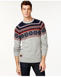 Wesc - Gray Fairisle Print Sweater for Men - Lyst